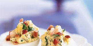 غذایی خوشمزه,کم کالری,تخم مرغ,میگو