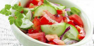 خیار و گوجه فرنگی