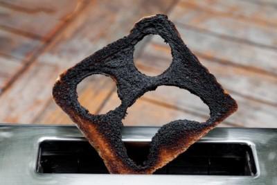 غذای سوخته