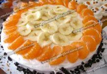 کیک خیس میوه ای